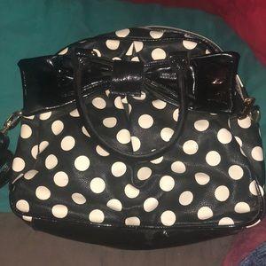 Betsey Johnson polka dot bag! Come with long strap